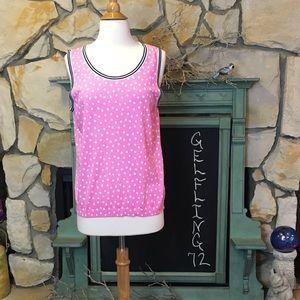Talbots Pink Polka Dot Sweater Tank